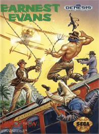 Box cover for Earnest Evans on the Sega Genesis.