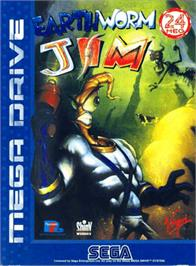 Box cover for Earthworm Jim on the Sega Genesis.