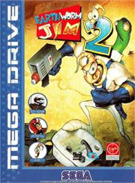 Box cover for Earthworm Jim 2 on the Sega Genesis.