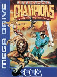 Box cover for Eternal Champions on the Sega Genesis.
