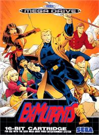 Box cover for Ex-Mutants on the Sega Genesis.