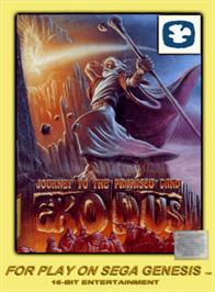 Box cover for Exodus: Journey to the Promised Land on the Sega Genesis.