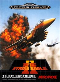 Box cover for F-15 Strike Eagle II on the Sega Genesis.