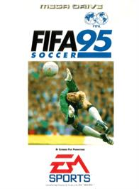 Box cover for FIFA 95 on the Sega Genesis.
