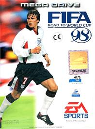 Box cover for FIFA 98: Road to World Cup on the Sega Genesis.