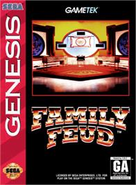 Box cover for Family Feud on the Sega Genesis.