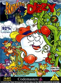 Box cover for Fantastic Adventures of Dizzy, The on the Sega Genesis.