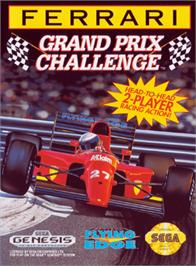Box cover for Ferrari Grand Prix Challenge on the Sega Genesis.