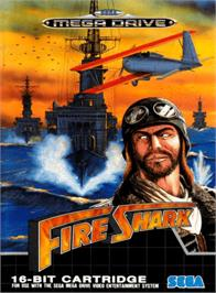 Box cover for Fire Shark on the Sega Genesis.