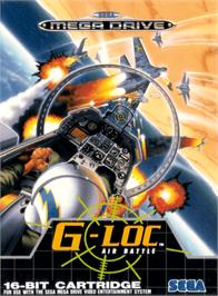 Box cover for G-Loc Air Battle on the Sega Genesis.