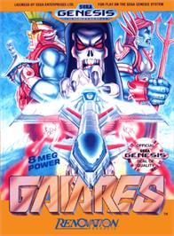 Box cover for Gaiares on the Sega Genesis.