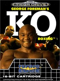 Box cover for George Foreman's KO Boxing on the Sega Genesis.
