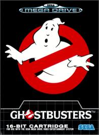Box cover for Ghostbusters on the Sega Genesis.