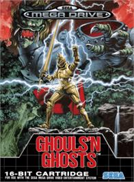 Box cover for Ghouls'n Ghosts on the Sega Genesis.
