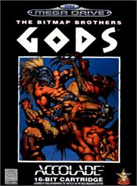 Box cover for Gods on the Sega Genesis.