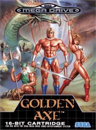 Box cover for Golden Axe on the Sega Genesis.