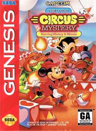 Box cover for Great Circus Mystery, The - starring Mickey and Minnie Mouse on the Sega Genesis.