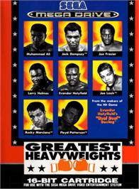 Box cover for Greatest Heavyweights on the Sega Genesis.