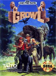 Box cover for Growl on the Sega Genesis.
