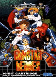 Box cover for Gunstar Heroes on the Sega Genesis.