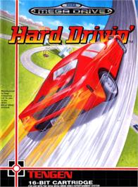Box cover for Hard Drivin' on the Sega Genesis.