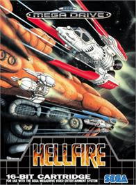 Box cover for Hellfire on the Sega Genesis.
