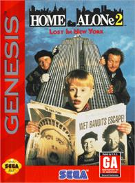 Box cover for Home Alone 2 - Lost in New York on the Sega Genesis.