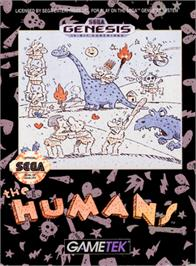 Box cover for Humans, The on the Sega Genesis.