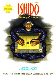 Box cover for Ishido: The Way of Stones on the Sega Genesis.