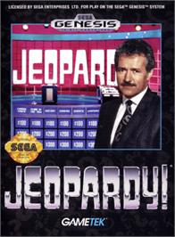 Box cover for Jeopardy on the Sega Genesis.