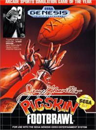 Box cover for Jerry Glanville's Pigskin Footbrawl on the Sega Genesis.