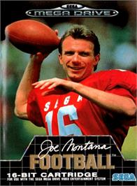 Box cover for Joe Montana Football on the Sega Genesis.