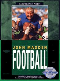 Box cover for John Madden Football on the Sega Genesis.