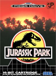 Box cover for Jurassic Park on the Sega Genesis.