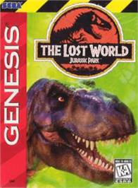Box cover for Jurassic Park 2 - The Lost World on the Sega Genesis.