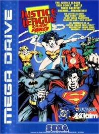 Box cover for Justice League Task Force on the Sega Genesis.