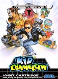 Box cover for Kid Chameleon on the Sega Genesis.