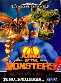 Box cover for King of the Monsters on the Sega Genesis.