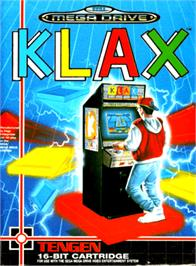 Box cover for Klax on the Sega Genesis.