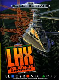 Box cover for LHX: Attack Chopper on the Sega Genesis.