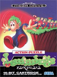 Box cover for Lemmings on the Sega Genesis.