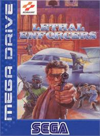 Box cover for Lethal Enforcers on the Sega Genesis.