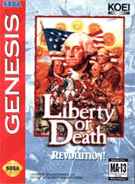 Box cover for Liberty or Death on the Sega Genesis.
