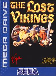 Box cover for Lost Vikings, The on the Sega Genesis.