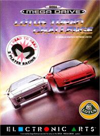 Box cover for Lotus Turbo Challenge 2 on the Sega Genesis.
