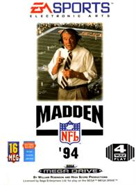 Box cover for Madden NFL '94 on the Sega Genesis.