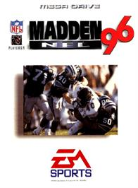 Box cover for Madden NFL '96 on the Sega Genesis.