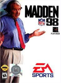 Box cover for Madden NFL '98 on the Sega Genesis.