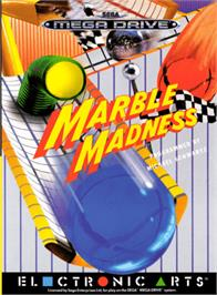 Box cover for Marble Madness on the Sega Genesis.