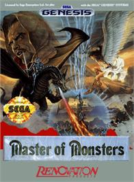Box cover for Master of Monsters on the Sega Genesis.
